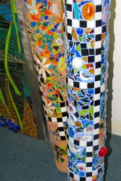 Never thought of mosaics and totems....  Cool idea!!  totems by kat gottke