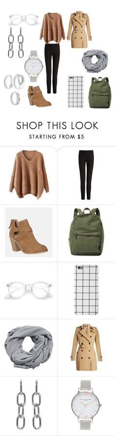 """Untitled #268"" by ohmygshsomeoneactually ❤ liked on Polyvore featuring Joseph, Avenue, Herschel Supply Co., MANGO, Burberry, Alexander Wang and Olivia Burton"