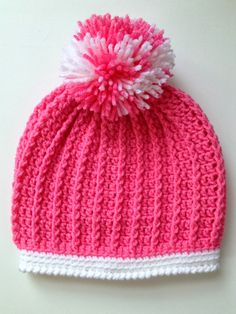 With Love by Jenni: Ribbed Toddler Hat Pattern