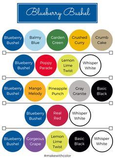Color of the Week - Blueberry Bushel - Mackenzie Makes