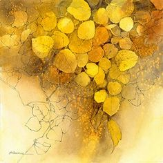 Fall's Finale by Jackie McFarland Frank M. Thayer Memorial Award Sponsored By: Valli Thayer McDougle & Tom McDougle Watercolor Leaves, Watercolor Artists, Watercolor Techniques, Floral Watercolor, Sunflower Watercolour, Yellow Theme, Plant Images, Mellow Yellow, Botanical Art