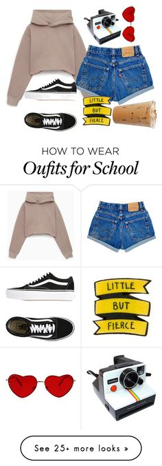 """""""latte"""" by katniss1212 on Polyvore featuring Polaroid and Vans"""
