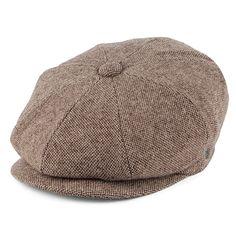 b0e05c409ed Jaxon   James Sheffield Pure Wool Newsboy Cap - Brown from Village Hats.  Flat Cap