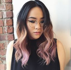 ... job that embraces dark roots. Lazy girls seeking some extra color (and hoping to touch up as little as possible), should try this faded pink ombre look.
