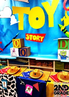 ever done a room transformation in your classroom? Before last week my answer to that question was NO! That surprises many people because I am best friends with Hope King and she is the QUEEN of purposeful and engaging room transformations. I wanted to Disney Classroom, Future Classroom, Classroom Themes, Toy Story Room, Toy Story Theme, School Custodian, Nonfiction Text Features, Measurement Activities, Disney Rooms