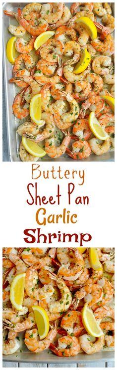 This super easy and flavorful Buttery Sheet Pan Garlic Shrimp can be on the table in ten minutes. The buttery sauce is packed with garlic and big hunks of Tellicherry pepper from NoblePig.com.