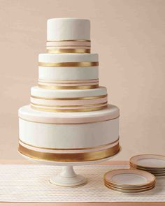 Fine china and wedding cakes have much in common: Both are beautiful and functional, both are products of centuries-old traditions of honed and studied craftsmanship, and both preoccupy the minds of brides. Adornments derived from traditional china patterns look right at home on these elegant wedding cakes.