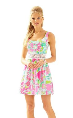 Rosemarie dress, Flamingo Pink I dont give a Cluck, Lilly Pulitzer
