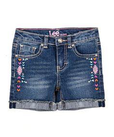 Look at this #zulilyfind! Denim Tribal Midi Shorts - Girls #zulilyfinds