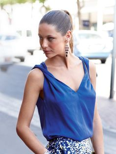 Draped tank sewing pattern. Yes, please. In four colors.