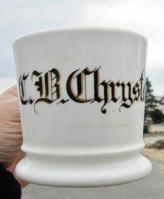 personalized shaving mug -- C. B. Chrystal