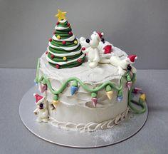 Polar Bears Christmas Cake - Cake by Laura Dachman