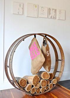 repurposed log holder. image via  Luci.D Interiors pinned by RELEK