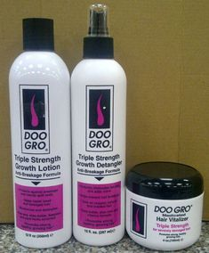 Doo Gro Triple Strength Growth Hair Products-Doo Gro Triple Strength Growth Hair Products Safe to use on all types of hair including color treated weaved braided and relaxed Growth Lotion – Helps stop breakage and repairs weak - Natural Hair Care Tips, Natural Hair Growth, Natural Hair Styles, Relaxed Hair Growth, Hair Care Oil, Diy Hair Care, Updo Tutorial, Hair Growth Tips, Healthy Hair Growth