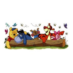 Deliver sweet style to your kid's playroom with this Disney Pooh & Friends Wall Decal by RoomMates. Cartoon Wallpaper, Cute Laptop Wallpaper, Disney Phone Wallpaper, Bear Wallpaper, Macbook Wallpaper, Cartoon Up, Cartoon Online, Girl Cartoon Characters, Disney Background