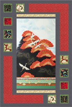 Oriental Harmony quilt, Vintage color story. Made with Imperial Collection. Fat quarter-friendly pattern designed by Sweet Tea Girls.