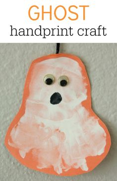 Ghost Handprint Craft for Halloween