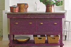 purple furniture | ... Crackle Furniture: Faux Crackle Purple Paint Furniture – Quakerrose