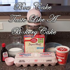 Make Boxed Cake Mix taste like Bakery cake. Make your boxed cake mix taste homemade. How to How to Make Boxed Cake Mix taste like Bakery cake. Bakery Style Cake, Bakery Cakes, Bakery Box, Bakery Style Yellow Cake Recipe, How To Make Box, How To Make Cake, Making A Cake, How To Stack Cakes, Piniata Cake
