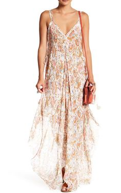 Free People Paisley Side Tassel Maxi Dress via @bestmaxidress