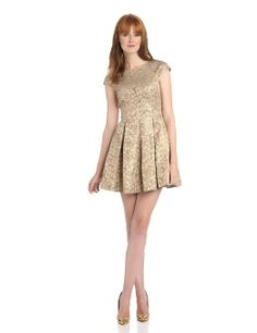 French Connection Women's Blousy Bloom Jacquard Dress