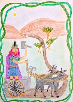 Waldorf ~ 4th grade ~ Norse Mythology ~ Thor ~ main lesson book