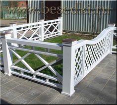 деревянные ограждения садовые и для балконов