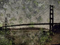 Tent Camera Image on Ground — View of the Golden Gate Bridge from Battery Yates, Courtesy of the artist and Edwynn Houk Gallery, New York. ©Abelardo Morell, courtesy of Edwynn Houk Gallery, New York. Film Photography, Fine Art Photography, Amazing Photography, Landscape Photography, Alternative Photography, National Geographic, Photograph Video, Digital Texture, Rare Images