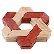 houten driehoek lock iq puzzel kubus – EUR € 4.59