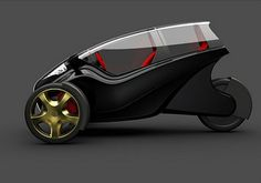3Wheeler, green car, futuristic car, Eco Cars, Concept Car, Future Car, Future Auto, Future Vehicle