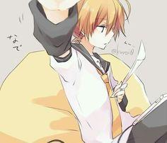 Don't disturb Len Senpai! ~ >,< Vocaloid, Kaito, Cute Anime Boy, Anime Boys, Anime Hair, Yuri On Ice, Lens, Anime Characters, Art Online