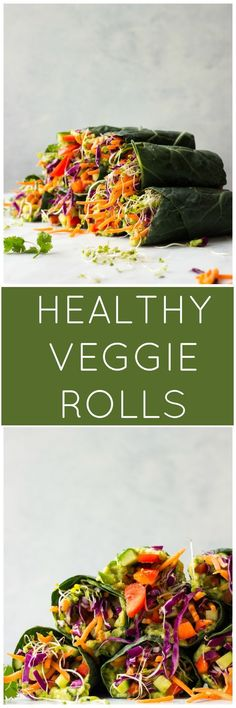 Healthy Veggie Rolls - vegan, vegetarian and completely raw! | littlebroken.com @littlebroken