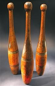 wooden juggling pins