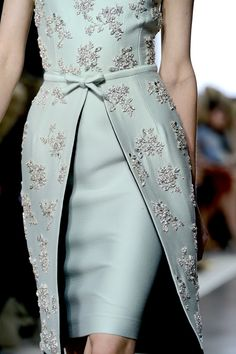 Giambattista Valli dress with beaded wrap overskirt and bodice ~ F/W 2013-14