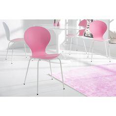 Stoel Form Bicolor Roze Wit stapelbaar - 20655