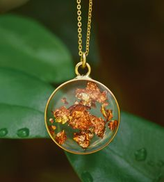 Round Resin Necklace by cameoko jewelry on Scoutmob