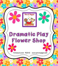 A flower shop dramatic play theme for your preschool, pre-k, or kindergarten classroom. Transform your dramatic play center into a flower shop! Dramatic Play Themes, Dramatic Play Area, Dramatic Play Centers, Preschool Themes, Fun Activities, Educational Activities, Toddler Activities, Pre K Pages, Spring Projects