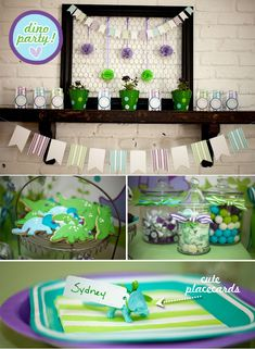 Who said Dinosaurs are just for boys? This birthday party is fantastic for girls too. I love their choice of softer green and blues and other more delicate touches.