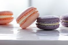 Rose & Lavender Macarons are a beautiful addition to Mother's Day. Sweet and airy.