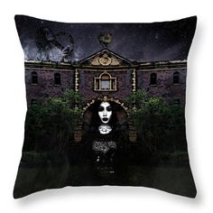 Haunted Throw Pillow featuring the digital art The Haunted Mansion by Cuiava Laurentiu Pillow Reviews, Haunted Mansion, Pillow Sale, Tag Art, Basic Colors, Poplin Fabric, Color Show, Colorful Backgrounds, Fine Art America