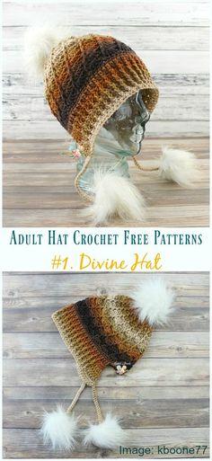 45 Crochet Hat Patterns Ideen und Bilder zu Every Season 2019 | Diy ...