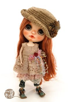 Blythe Doll Outfit / 1/6 doll size / vintage Hand-dyed by EcoZAKKA