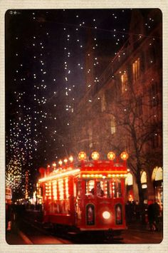 Twinkling Lights and Trolley Cars