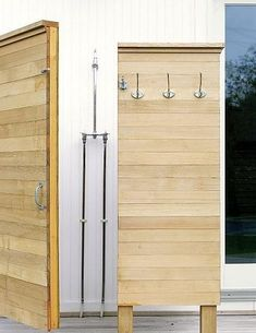 An outdoor shower in Montauk by NY architects Murdock Young.