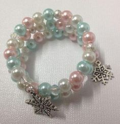Don't worry, this gorgeous Frozen-Inspired Pearl Bracelet won't melt!