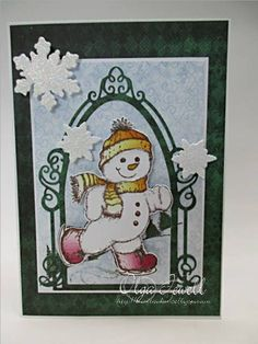 Skating Snowman by memorykeeper - Cards and Paper Crafts at Splitcoaststampers