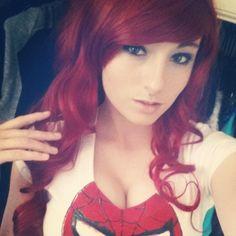 Character: Mary Jane Watson / From: Marvel Comics Amazing Spider-Man / Cosplay Model: Kayla Erin