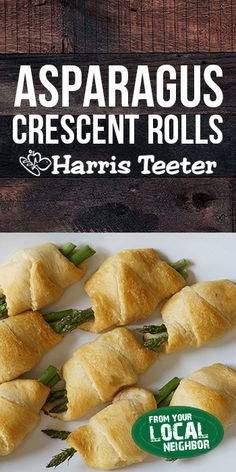 Only three ingredients and two easy steps separate you from these Asparagus Crescent Rolls! Asparagus Crescent Rolls Harris Teeter harristeeter Fresh from the Farm Only three ingredients and two easy steps separate you Crescent Rolls, Crescent Roll Recipes, New Recipes, Holiday Recipes, Cooking Recipes, Favorite Recipes, Vegetable Recipes, Vegetarian Recipes, Healthy Recipes