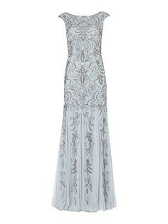 Adrianna Papell Cap sleeve beaded dress $290.00 AT vintagedancer.com