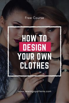 The first step in dressmaking is to design clothes. If you love sewing, you are gonna love this free online course that covers a bit of fashion design, fashion illustration, sewing tips and tricks, and sewing patterns. Design Your Own Clothes, Make Your Own Clothes, Designing Clothes, Easy Sewing Projects, Sewing Hacks, Sewing Tips, Sewing Ideas, Sewing Lessons, Plus Size Summer Fashion
